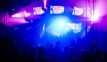People at the concert, blurred motion  Standard-Bild