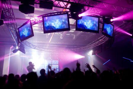 Fête de la musique avec spectacle laser Banque d'images