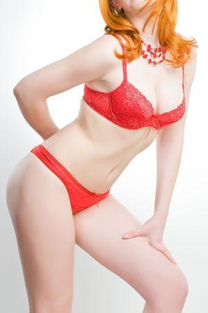 Beautiful girl in lingerie, studio shot  photo