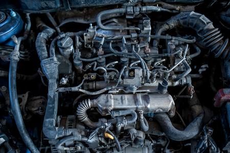 Car engine, close-up