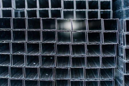 automotive components manufacturing plant. Warehouse aluminum profiles 写真素材