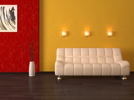Modern sofa 3d cumputer render