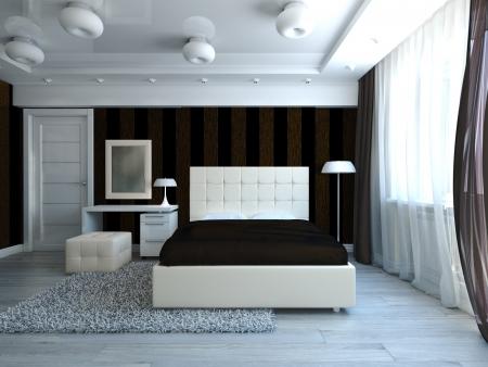 Modern style bedroom inter Stock Photo - 17235899
