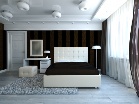 Modern style bedroom interior Stock Photo - 17235899