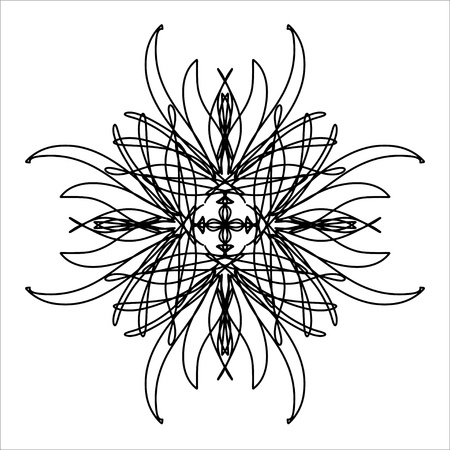Template for cards and any printing products, printing on clothing. Abstract pattern. An isolated abstract drawing depicting himself, oriental pattern for the decor and background of your design.