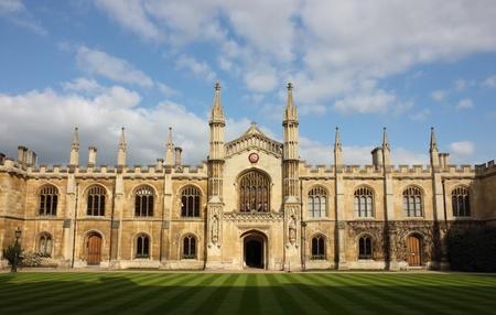 Colegio de Corpus Christi y la Virgen María en Cambridge, Reino Unido. Foto de archivo