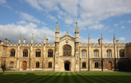 cambridge: College of Corpus Christi and the Blessed Virgin Mary in Cambridge, UK.