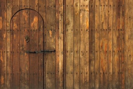 door bolt: Old Wooden Gate shot in the warm light of the