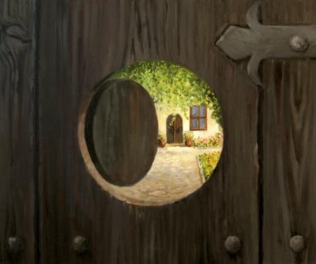 doorstep: At The Doorstep Stock Photo