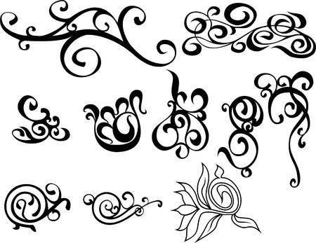 ligature: original black and white decorative ornaments