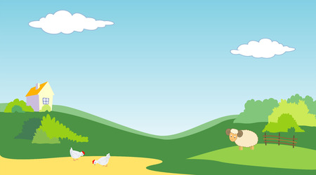 vector illustration of country landscape Stock Vector - 5751434