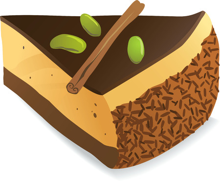 color vector clip art of chocolate cake Vector