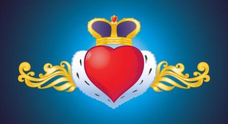 heart symbol for valentines day Ilustração