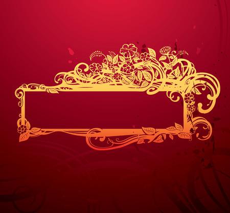 ornate banner  Ilustração