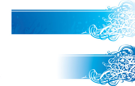 color vector image of flourish ornate banner