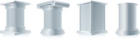 stone column pedestals Stock Vector - 8407721