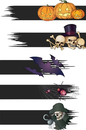 Color Halloween banners