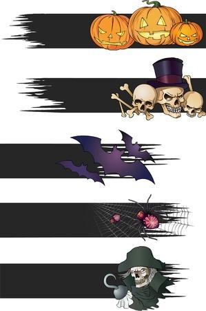 Color Halloween banners Banco de Imagens - 15546253