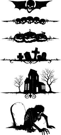 Cartoon vector shapes on Halloween theme