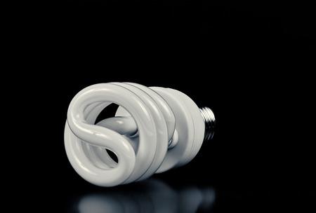 cfl: Energy-saving bulb CFL over black