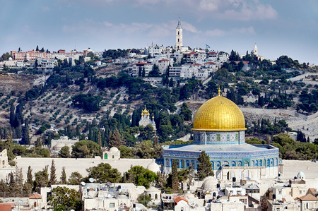Jerusalem old sity and Temple Mount view photo