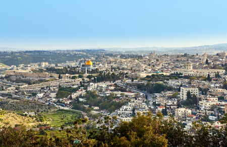 jerusalem: Jerusalem and Temple Mount panoramic view