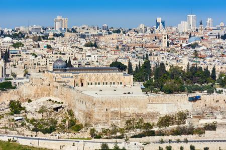 mount of olives: Jerusalem Al-Aqsa view from Mount of Olives