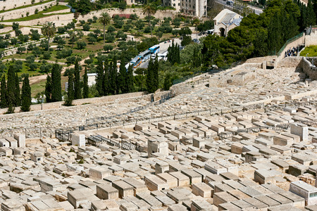 Jerusalem Mount of Olives cemetery view photo