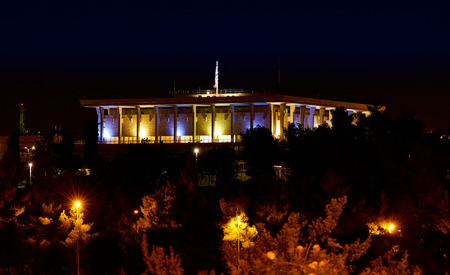 knesset: Knesset (the Parliament of Israel) at night