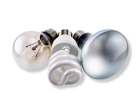 matt: Set of different bulbs: glow, CFL, matt