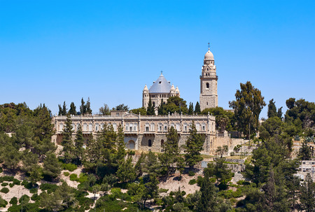 mary mother of jesus: Dormition of the Mother of God Abbey in Jerusalem on mount Zion Stock Photo