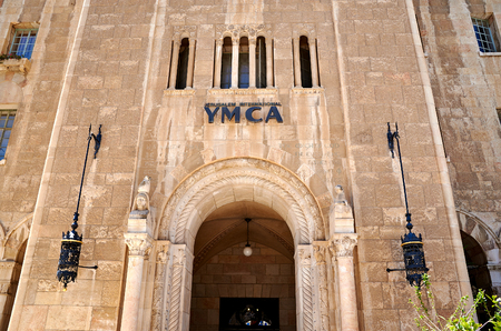 building entrance: Jerusalem International YMCA building entrance
