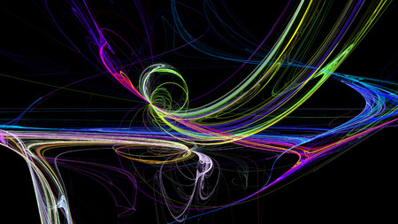 Colorful lines abstract background 3d cosmic for creative design