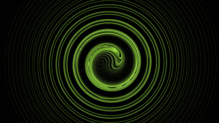 Green spiral abstract background with galaxy glow Stock Photo