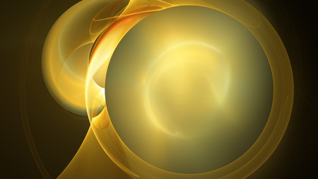 Yellow sun circles abstract background for creative design Stock Photo