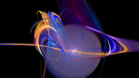 Colorful curves waves and figures abstract background 3d