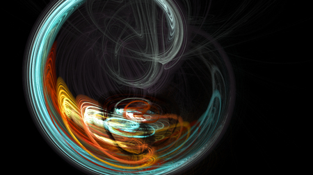 Colorful watercolor explosion abstract background 3D galaxy Stock Photo