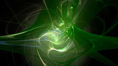 Colorful green waves glow abstract background 3D Stock Photo