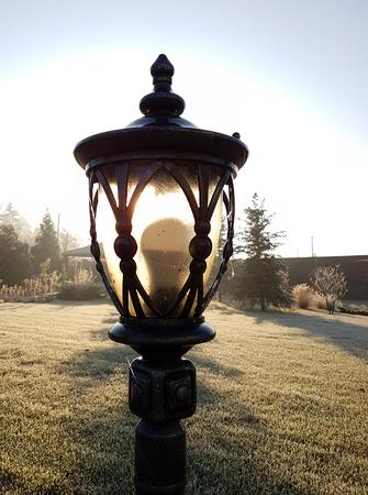 Street light in countryside villa