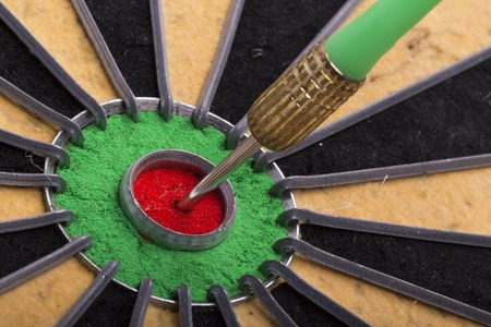 bull     s eye: the dart hit the target on dartboard
