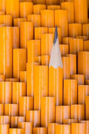 sharpened: One sharpened pencil among many not sharp