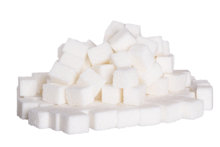 sweeten: Sugar cubes background, black and white isolated