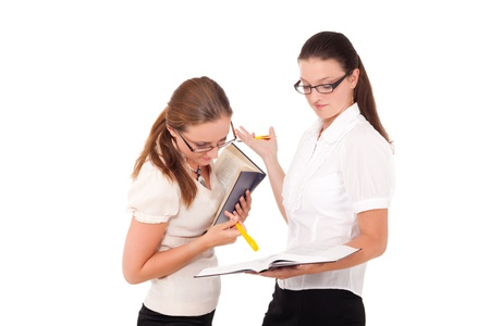 One student is asking for explanation from another. Stock Photo - 10930451