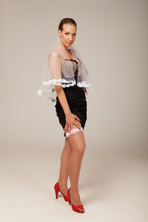 Garter is a special thing every fiance should wear Stock Photo - 11217765