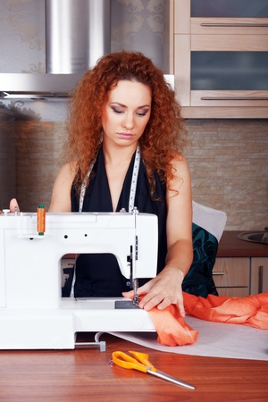 Fashion designer is working on the new collection Stock Photo