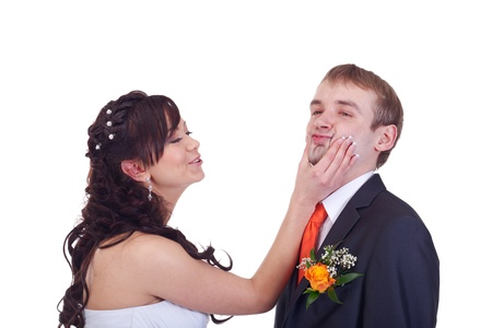 forcing: Bride is forcing groom to say yes