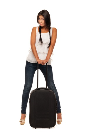 Young girl is ready for vacations Stock Photo