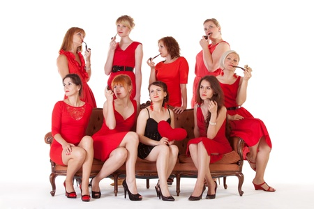 Ideas for hen party: let it be red and black Stock Photo - 14531902