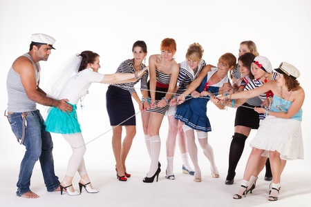 Ideas for hen party: sailors and bandit photo