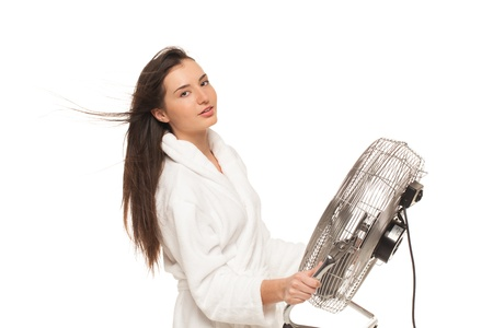 Young girl found the fastest way to get her hair clean Stock Photo - 14616150